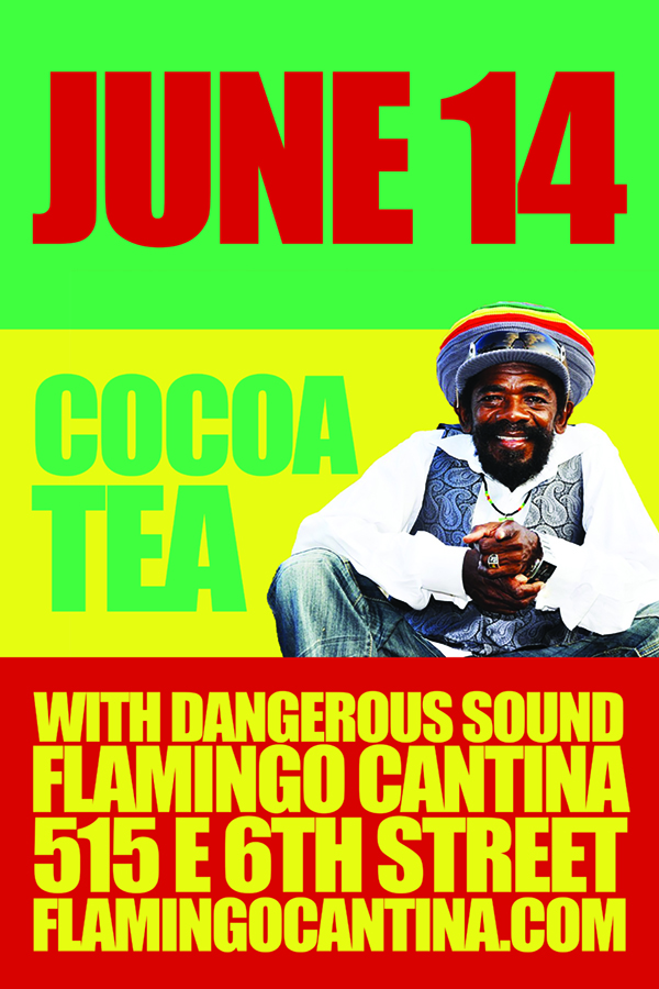 Cocoa tea live direct from jamaica flamingo cantina purchase tickets here malvernweather Image collections